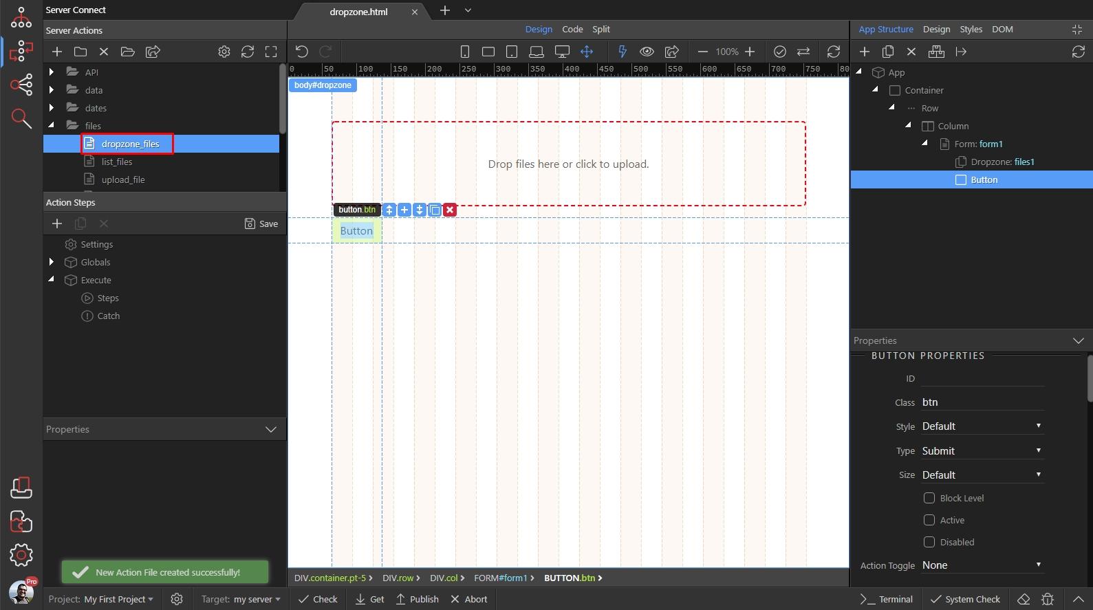 Dropzone Remove File