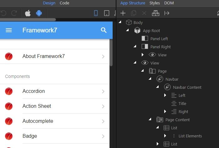 Framework7 Api