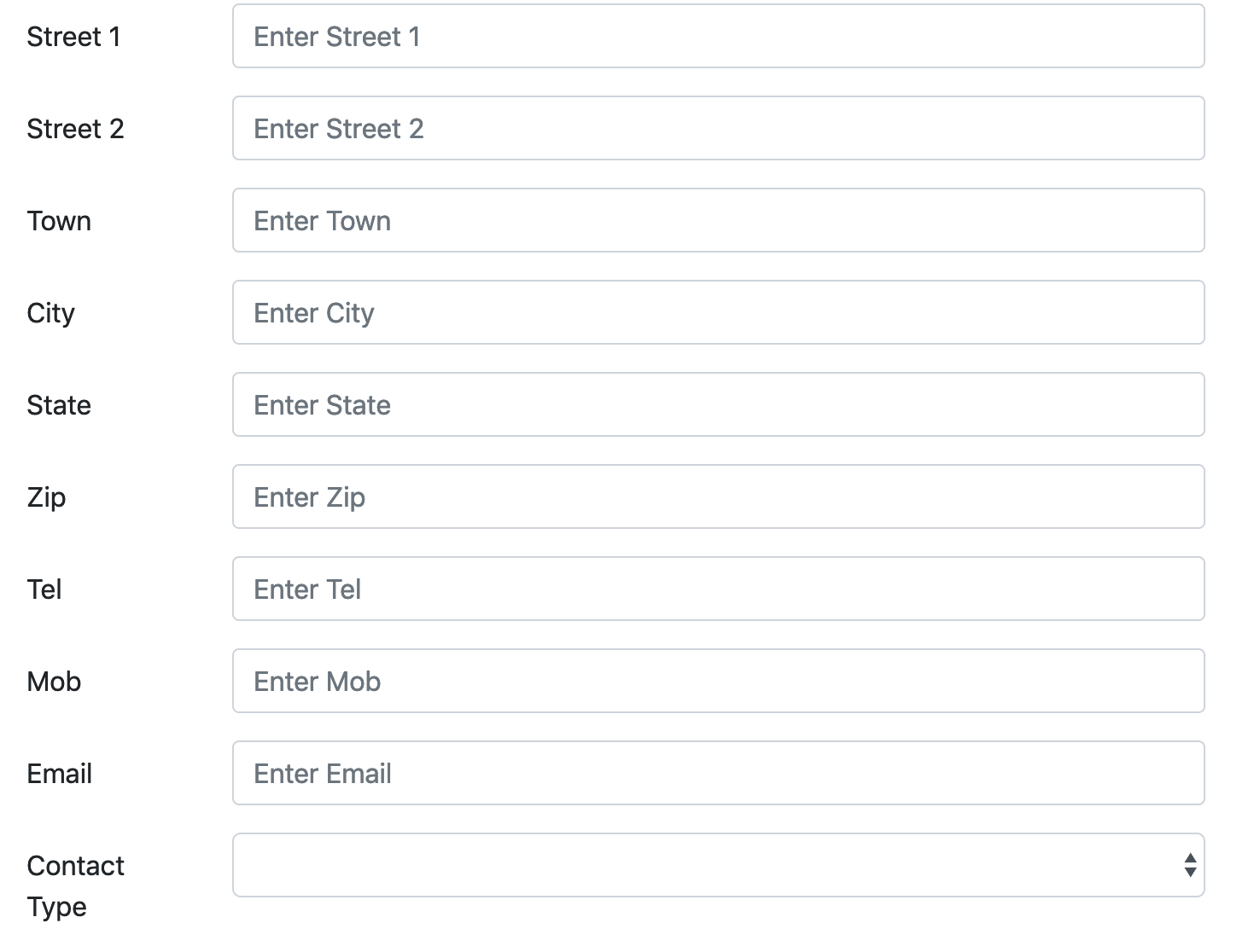 External table select within an input form - How To