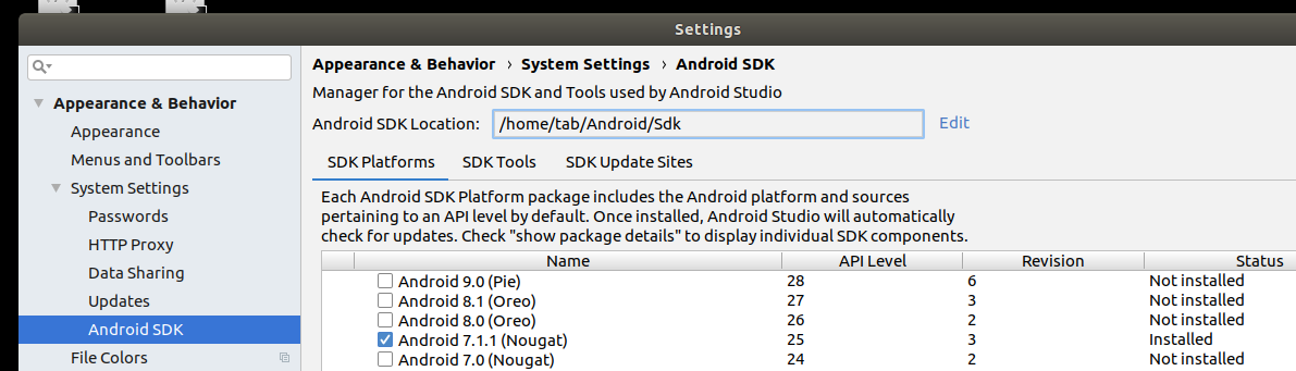 Android Studio not found under Ubuntu - Mobile Apps - Wappler Community