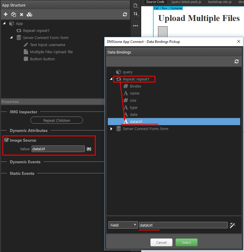 Upload File On Button Click Javascript