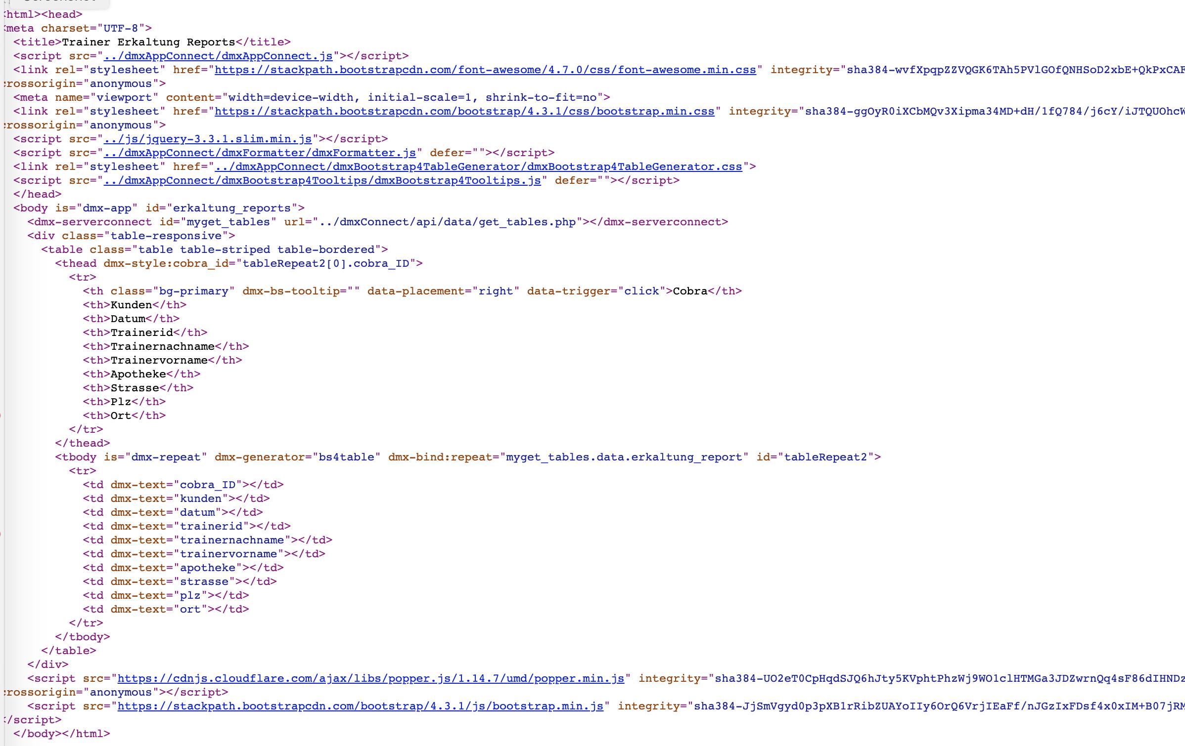 Search Filter blocking data table display - Wappler General