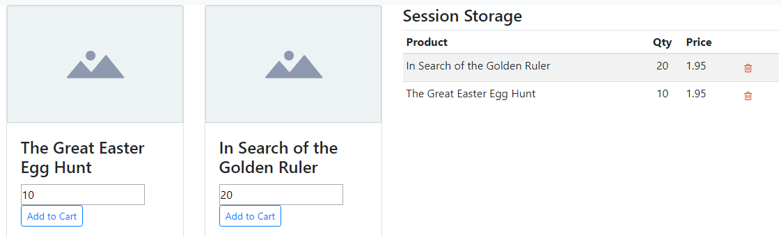 Using Session Storage Keyed Array - How-to Guides - Wappler