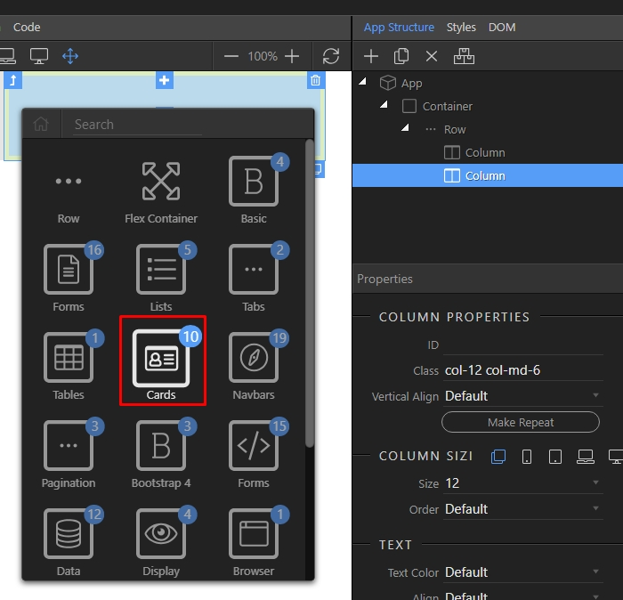 Bootstrap 4 Cards - Bootstrap 4 Visual Designer - Wappler Community