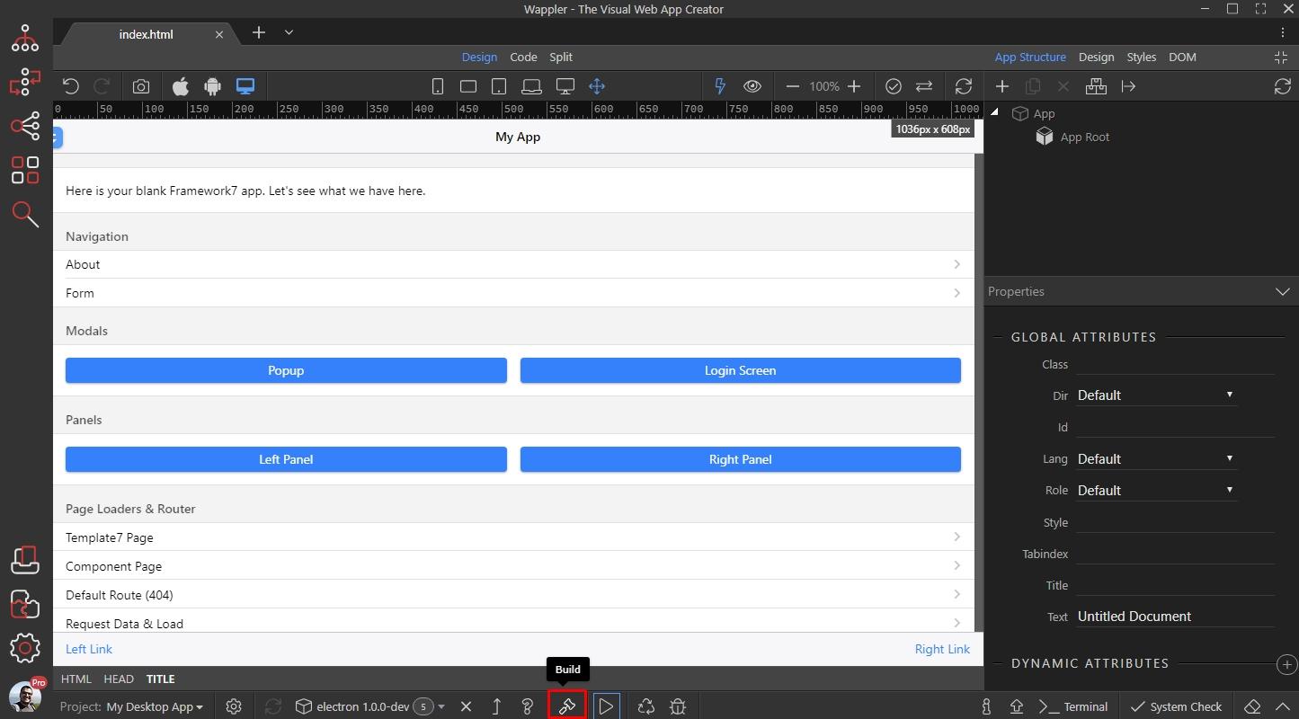 Creating Desktop Apps - Mobile Apps - Wappler Community